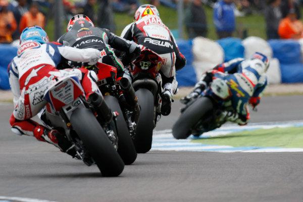 2015 World Superbike Championship.  Donington Park, UK.  23rd - 24th May 2015.  Michael van der Mark, Pata Honda.  Ref: KW7_5874a. World copyright: Kevin Wood/LAT Photographic
