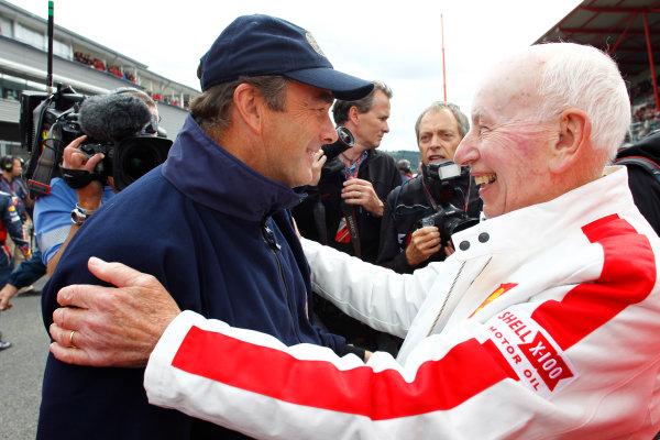 Spa-Francorchamps, Spa, Belgium28th August 2011.FIA fourth steward Nigel Mansell with John Surtees. Portrait. World Copyright:Steven Tee/LAT Photographicref: Digital Image _A8C6461