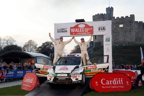 Round 13 Wales Rally GB. 10th-13th November 2011.Mads Ostberg, Jonas Andersson, Ford WRC, Portrait, podium finish.Worldwide Copyright: McKlein/LAT