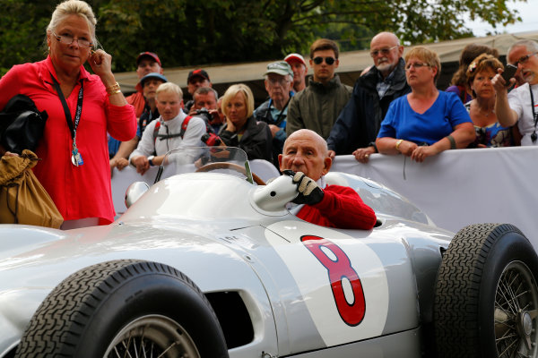 2014 Goodwood Festival of Speed  Goodwood Estate, West Sussex, England. 26th - 29th June 2014.   Saturday 28 June 2014. Sir Stirling Moss. World Copyright: Adam Warner/LAT Photographic. ref: Digital Image _L5R6853