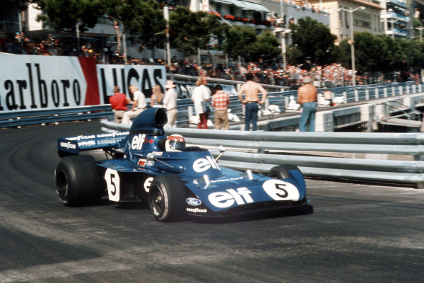 Monte Carlo, Monaco.31/5-3/6 1973.Jackie Stewart (Tyrrell 006 Ford) 1st position.Ref-73 MON 60.World Copyright - LAT Photographic