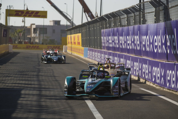 Nelson Piquet Jr. (BRA), Panasonic Jaguar Racing, Jaguar I-Type 3, leads Jean-Eric Vergne (FRA), DS TECHEETAH, DS E-Tense FE19