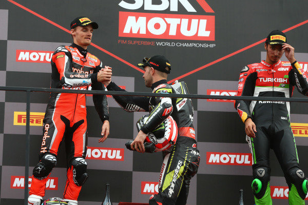 Chaz Davies, Aruba.it Racing-Ducati Team, Jonathan Rea, Kawasaki Racing Team.