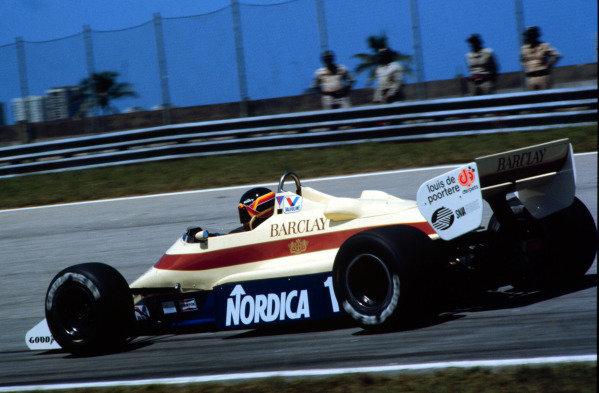1984 Brazilian Grand Prix.Jacarepagua, Rio de Janeiro, Brazil.23-25 March 1984.Thierry Boutsen (Arrows A6 Ford) 6th position.World Copyright - LAT Photographic