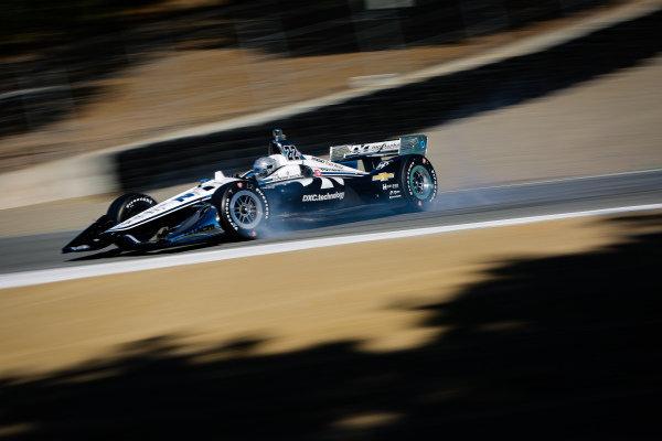 Simon Pagenaud, Team Penske Chevrolet spins