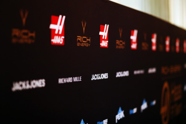Haas F1 sponsor board