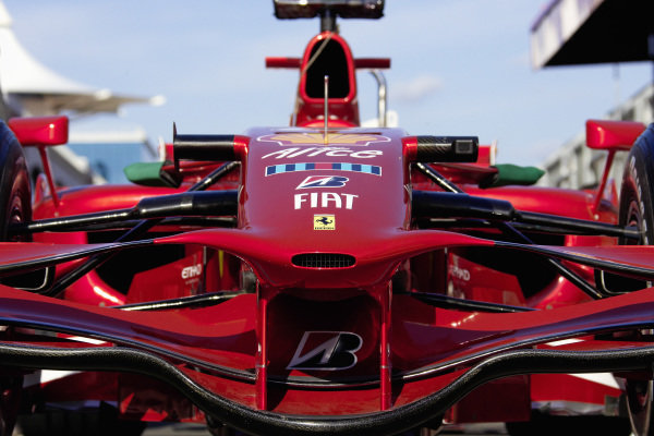 The front of the Ferrari F2008.