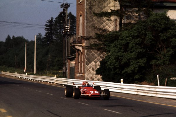 1970 Belgian Grand Prix.Spa-Francorchamps, Belgium.5-7 June 1970.Ignazio Giunti (Ferrari 312B) 4th position.Ref-70 BEL 15.World Copyright - LAT Photographic