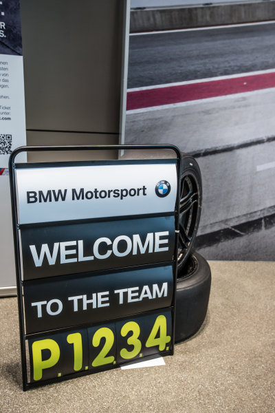 BMW Motorsport DTM pit sign celebrating the first four positions at Red Bull Ring