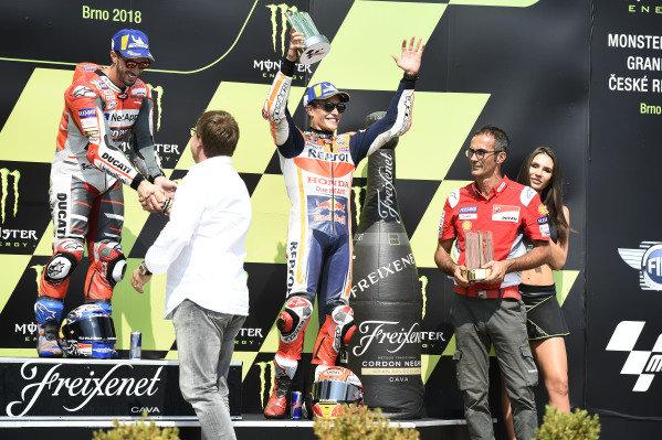 Podium: race winner Andrea Dovizioso, Ducati Team, third place Marc Marquez, Repsol Honda Team.