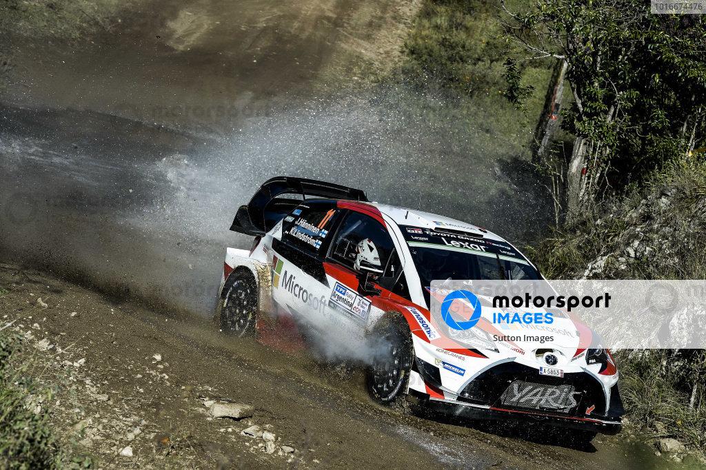 Juho Hanninen (FIN) / Kaj Lindstrom (FIN), Toyota Gazoo Racing Toyota Yaris WRC at World Rally Championship, Rd5, Rally Argentina, Day One, Villa Carlos Paz, Cordoba, Argentina, 28 April 2017.