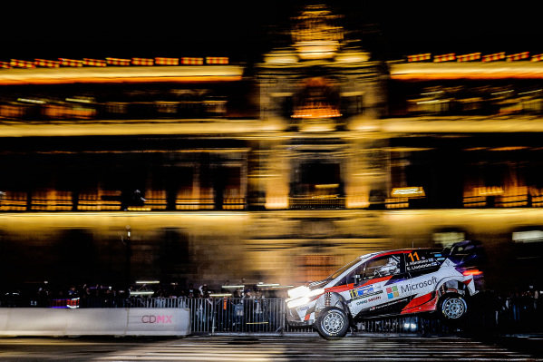 Juho Hanninen (FIN) / Kaj Lindstrom (FIN), Toyota Gazoo Racing Toyota Yaris WRC at World Rally Championship, Rd3, Rally Mexico, SS1, Leon, Mexico, 9 March 2017.