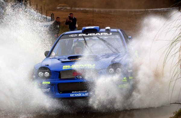 World Rally Championship, Rally of Argentina, May 17-20, 2002.Petter Solberg during shakedown.Photo: Ralph Hardwick/LAT