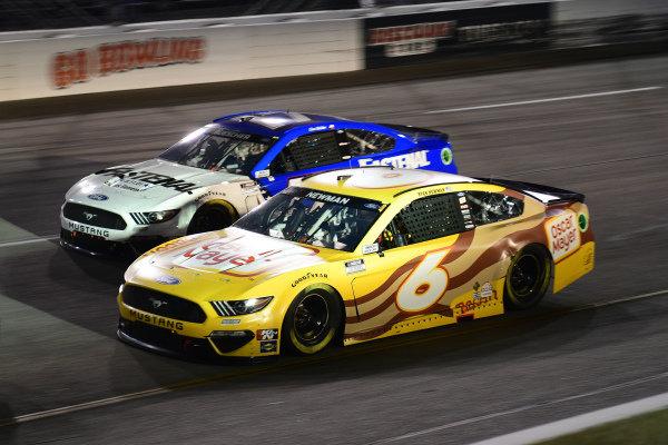 #6: Ryan Newman, Roush Fenway Racing, Ford Mustang Oscar Mayer Bacon, #17: Chris Buescher, Roush Fenway Racing, Ford Mustang Fastenal