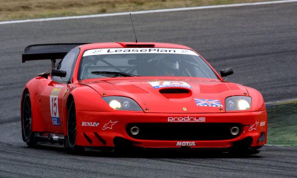 2001 FIA GT ChampionshipJarama, Spain. 30th September 2001.The race winning Ferrari 550 Maranello of Rydell/Medu, action.World Copyright: Peter Fox/LAT Photographicref: Digital Image Only