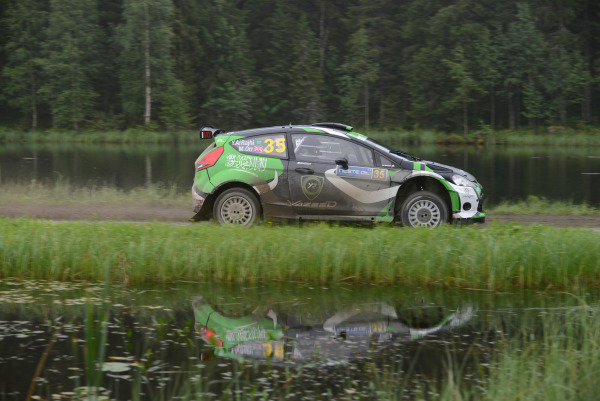 Yazeed Al Rajhi (KSA) and Michael Orr (GBR), Ford Fiesta RRC on stage 8. FIA World Rally Championship, R8, Neste Rally Finland, Day Two, Jyvaskyla, Finland, 2 August 2013.