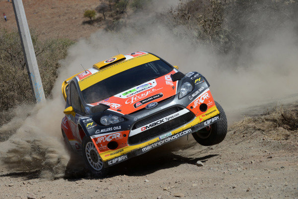 Martin Prokop (CZE) and Michal Ernst (CZE), Ford Fiesta RS WRC on the practice/qualifying stage. FIA World Rally Championship, Rd3, Rally Guanajuato Mexico, Leon, Mexico, Practice & Qualifying, Thursday 7 March 2013.