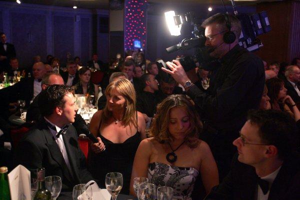 2005 Autosport AwardsGrosvenor House, London. 4th December.Louise Goodman asks Gary Paffett a question.World Copyright: Glenn Dunbar/LAT Photographicref: Digital Image Only