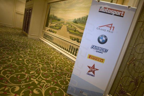 2005 Autosport AwardsGrosvenor House, London. 4th December.Sponsor's logos.World Copyright: Glenn Dunbar/LAT Photographicref: Digital Image Only
