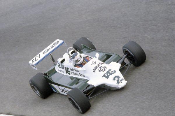 1981 Italian Grand PrixMonza, Italy. 11-13 September 1981.Carlos Reutemann (Williams FW07C-Ford Cosworth), 3rd position. Ref - 81ITA19.World Copyright - LAT Photographic
