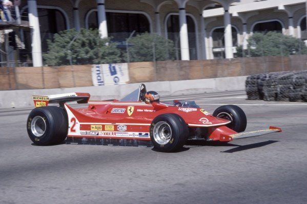 1980 United States Grand Prix West.Long Beach, California, USA. 28-30 March 1980.Gilles Villeneuve (Ferrari 312T5), retired.World Copyright: LAT PhotographicRef: 35mm transparency 80LB02