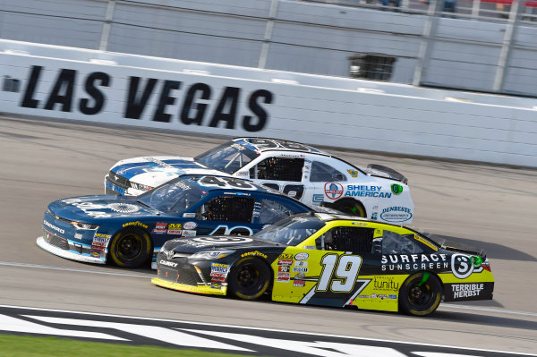 2017 NASCAR Xfinity Series - Boyd Gaming 300 Las Vegas Motor Speedway - Las Vegas, NV USA Saturday 11 March 2017 Matt Tifft, Surface Sunscreen / Tunity / Braingear Toyota Camry, Brennan Poole and Aric Almirola World Copyright: Nigel Kinrade/LAT Images ref: Digital Image 17LAS1nk05952