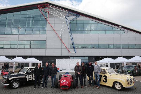 2017 Silverstone Classic Media Day. Silverstone, Northamptonshire. 23rd May 2017. Silverstone Classic celebrities. World Copyright: JEP/LAT Images.