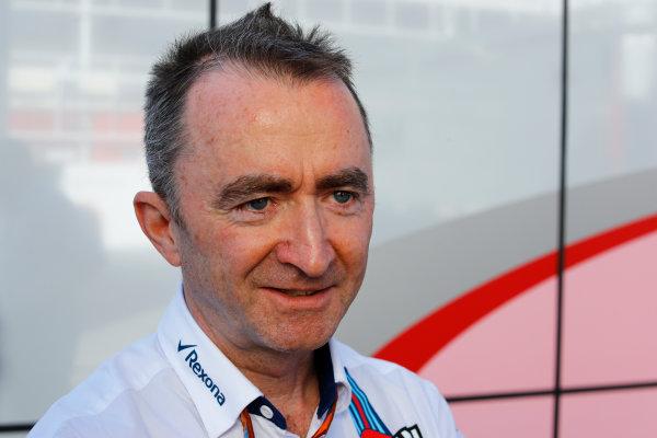 Circuit de Catalunya, Barcelona, Spain. Saturday 13 May 2017. Paddy Lowe, Chief Technical Officer, Williams Martini Racing Formula 1. World Copyright: Steven Tee/LAT Images ref: Digital Image _R3I2305