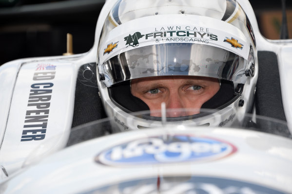Indy 500 pole sitter Ed Carpenter (USA) Ed Carpenter Racing. Verizon IndyCar Series, Rd4, Indianapolis 500, Indianapolis, USA, Practice and Qualifying, 11-19 May 2014.