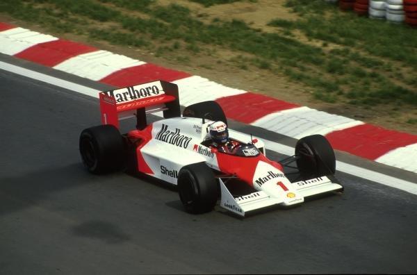 Winner Alain Prost(FRA) Mclaren MP4-3 Belgian GP, Spa, 17 May 1987