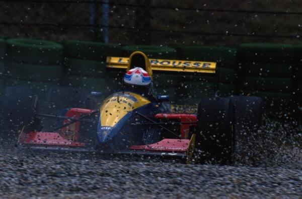 Philippe Alliot (FRA) Larrousse LH93 goes off during practice.