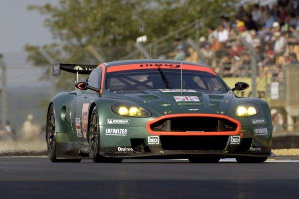 Tomas Enge (CZE) / Andrea Piccini (ITA) / Darren Turner (GBR) Aston Martin Racing Aston Martin DBR9. Le Mans 24 Hours Test Day, Le Mans, France, 4 June 2006. DIGITAL IMAGE