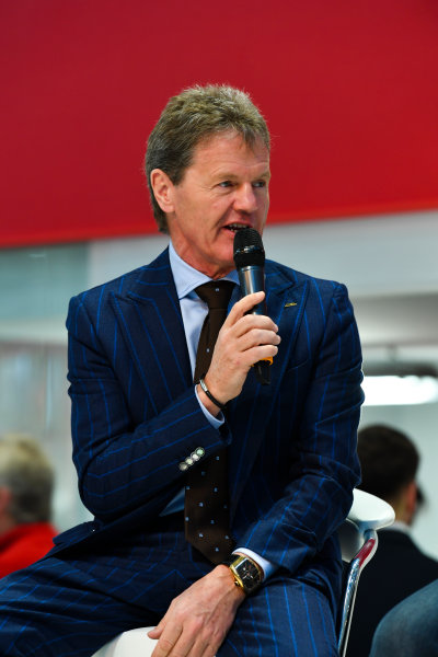 Autosport International Exhibition. National Exhibition Centre, Birmingham, UK. Thursday 11th January 2018. Malcolm Wilson talks to Henry Hope-Frost on the Autosport Stage. World Copyright: Mark Sutton/Sutton Images/LAT Images Ref: DSC_6562