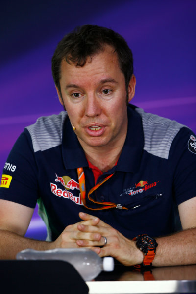 Circuit Gilles Villeneuve, Montreal, Canada. Friday 09 June 2017. Jody Egginton, Head of Vehicle Performance, Toro Rosso, in the Team Principals Press Conference. World Copyright: Andy Hone/LAT Images ref: Digital Image _ONZ0668