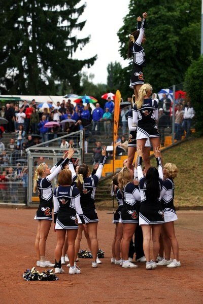 Cheerleaders At The Celebrity Football Match Formula One World Championship Rd 10 German