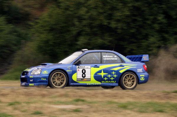 2003 FIA World Rally Champs. Round eight, Deutschland Rally, 24th-27th July 2003.Tommi Makinen, Subaru, action. World Copyright: McKlein/LAT