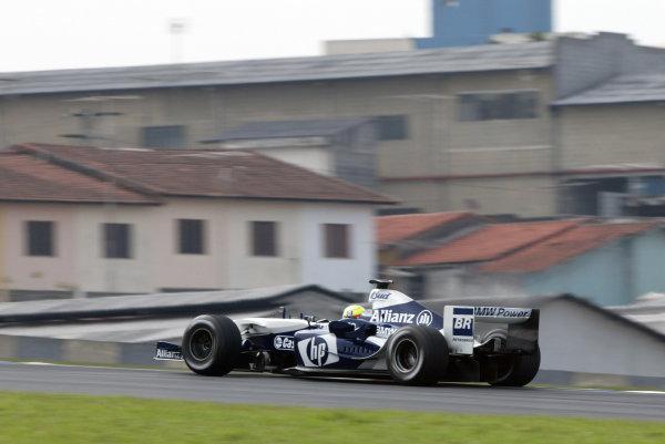 2004 Brazilian Grand Prix - Friday Practice,Interlagos, Sao Paulo, Brazil. 22nd October 2004 Ralf Schumacher, WilliamsF1 BMW FW26, action.World Copyright: Steve EtheringtonLAT Photographic ref: Digital Image Only