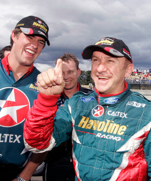 2004 Australian V8 SupercarsSymmons Plain Raceway, Tasmania. November 14th.V8 Supercar driver Russell Ingall took his first round win for the year at Round 12. Portrait. World Copyright: Mark Horsburgh/LAT Photographicref: Digital Image Only