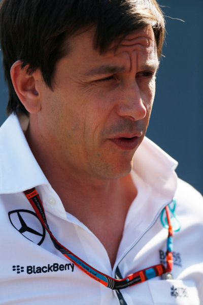 Spa-Francorchamps, Spa, Belgium. Saturday 22 August 2015. Toto Wolff, Executive Director (Business), Mercedes AMG. World Copyright: Alastair Staley/LAT Photographic ref: Digital Image _R6T5894