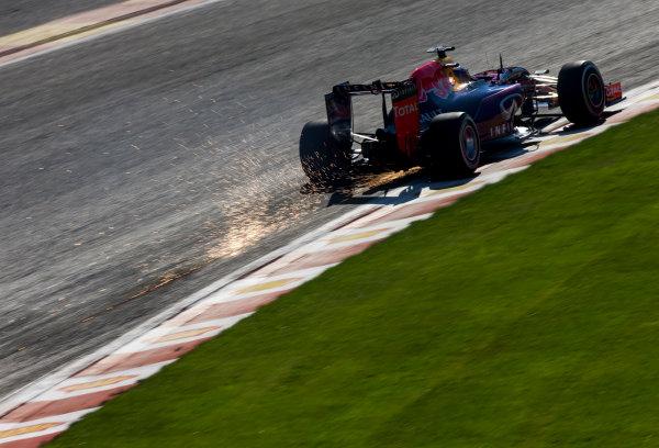 Spa-Francorchamps, Spa, Belgium. Saturday 22 August 2015. Daniel Ricciardo, Red Bull Racing RB11 Renault. World Copyright: Zak Mauger/LAT Photographic. ref: Digital Image _L0U0918