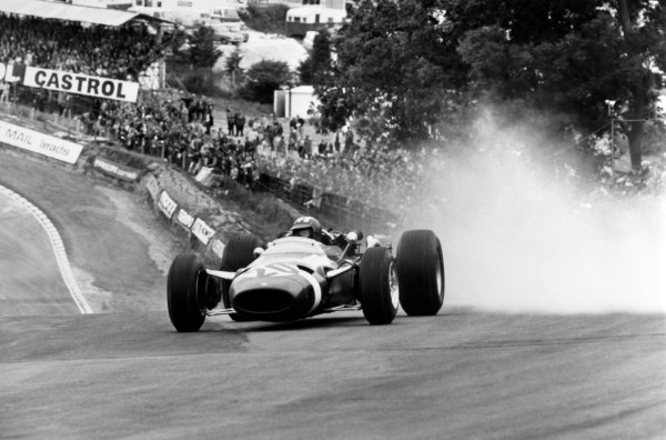Brands Hatch, Great Britain. 16 July 1966.Jo Siffert, Cooper T81-Maserati, not classified, action.World Copyright: LAT Photographic