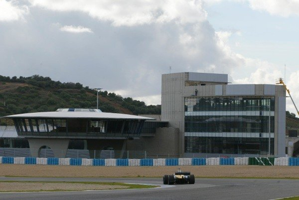 The new pit facilities at the Jerez circuit.