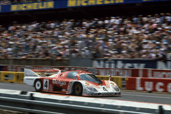 Le Mans, France. 19-20 June 1982.Bob Wollek/Jean-Michel Martin/Phillippe Martin (Porsche 936C), retired, action. World Copyright: LAT Photographic.Ref:  82LM08