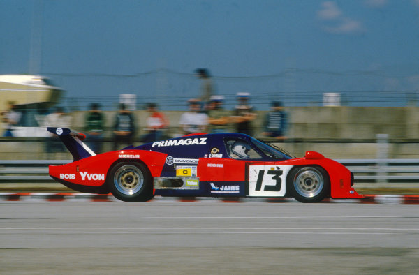Le Mans, France. 15th -16th  June 1985.Yves Courage/Alain de Cadenet/Jean-Franois Yvon (Cougar C12 Porsche), 20th position, action. World Copyright: LAT Photographic.Ref:  85LM39