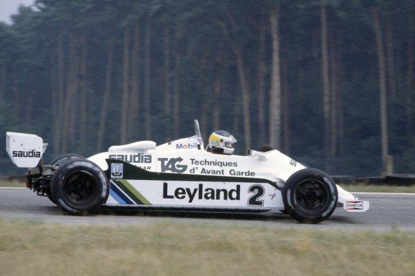 1981 German Grand Prix.Hockenheim, Germany. 31 July-2 August 1981.Carlos Reutemann (Williams FW07C-Ford Cosworth), retired.World Copyright: LAT PhotographicRef: 35mm transparency 81GER08