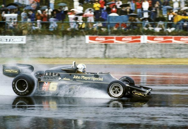 Gunnar Nilsson (SWE) Lotus 77 finished the race in sixth position. Japanese Grand Prix, Rd 16, Fuji, Japan, 24 October 1976. BEST IMAGE