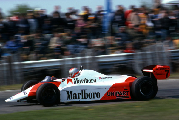 Race winner John Watson (GBR), McLaren MP4B. Formula One World Championship, Rd5, Belgian Grand Prix, Zolder, Belgium, 9 May 1982. BEST IMAGE