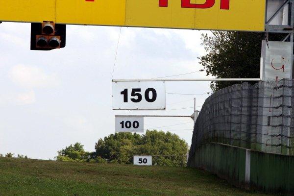 50 metre boards.Imola Track Walk, Imola, San Marino, Thursday 17 September 2009.
