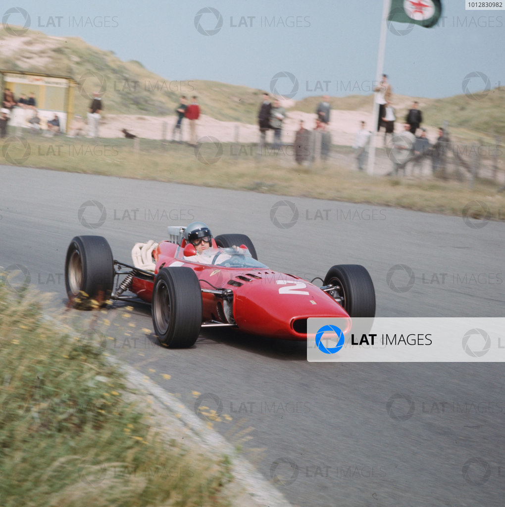 Zandvoort, Holland.22-24 July 1966.Lorenzo Bandini (Ferrari 312) 6th position.Ref-3/2281.World Copyright - LAT Photographic
