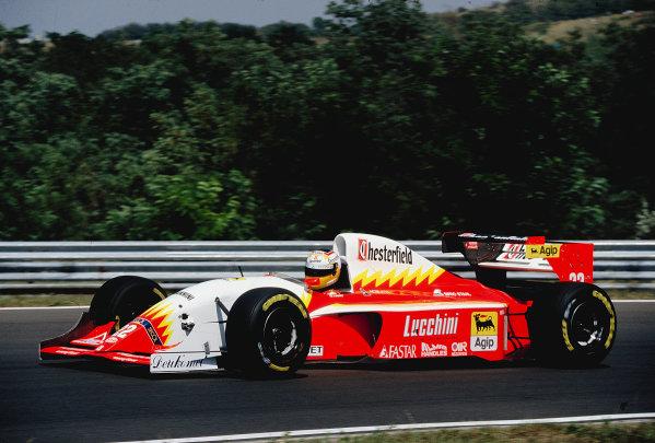 1993 Hungarian Grand Prix.Hungaroring, Budapest, Hungary.13-15 August 1993.Luca Badoer (Scuderia Italia/Lola T93/30 Ferrari).Ref-93 HUN 16.World Copyright - LAT Photographic